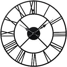 Carousel Clocks - Reloj de pared (números romanos, metálico), color negro
