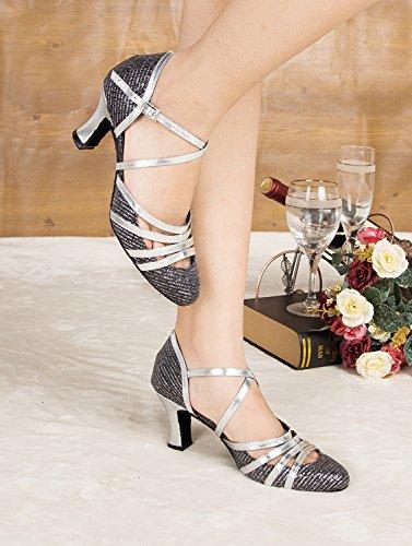Minitoo strass pour chaussures de danse pour la cheville Argento (argento)