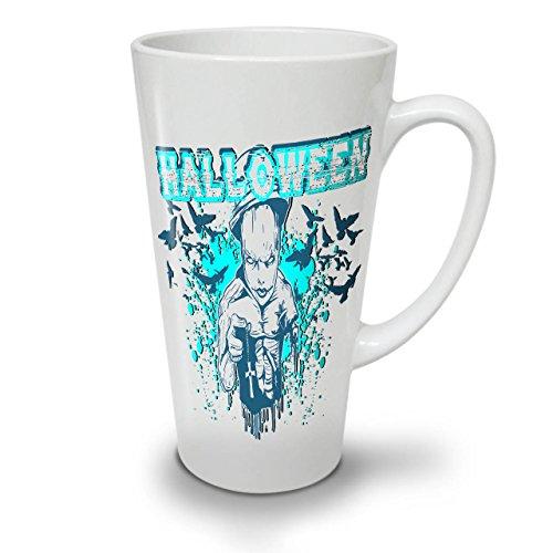 Wellcoda Halloween Grusel Kult Latte BecherUnheimlich Kaffeetasse - Komfortabler Griff, Zweiseitiger Druck, robuste Keramik