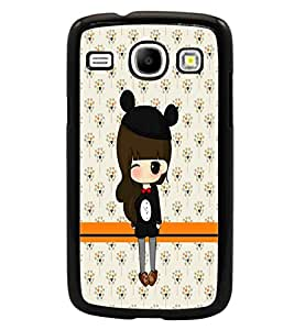 PrintDhaba Cute Doll D-5870 Back Case Cover for SAMSUNG GALAXY CORE i8262 (Multi-Coloured)