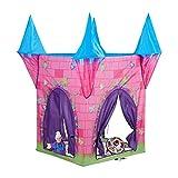 Relaxdays Spielzelt Schloss, Kinderzelt Mädchen, Kinderspielzelt Prinzessin, ab 3 Jahre, HxBxT: 132 x 110 x 110 cm, pink