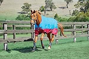 Sassone blu/ciliegia collo standard per cavallo e leggero Standard collo in pile Cooler offerta RRP 67.98, blu