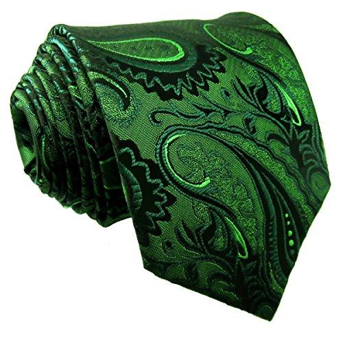 shlax&wing Herren Krawatte, Paisley Grün grün XL