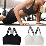 DALUCI Fashion New Women's Yoga Stretch Workout Seamless Padded Sports Bra