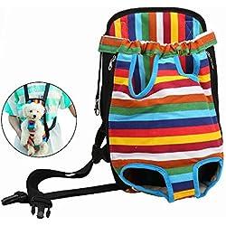 Case Wonder Mochila para Perro Y Gato - Cabeza y Piernas Fuera Portátil Adjustable Viaje Bolsa Backpack Frontal Pack de Transporte para Mascota Perro Gato y Cachorros (M)