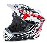 Fly casco integrale default 2017 per bici BMX, mountain bike, per downhill, da adulto, colore rosso/nero/bianco
