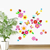 Rubybloom Designs Ladybirds, Flowers, Butterflies, Leaves & Bees Girls Childrens Vinyl Wall Stickers