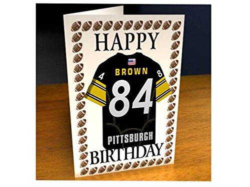 l Jersey Geburtstagskarten–AFC - Jeder Name, jede Zahl, jedes Team–Acryl Shirt-Design., Herren, Pittsburgh Steelers (Steelers Football-uniform)