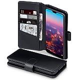TERRAPIN Coque Huawei P20 Pro, Étui Housse en Cuir Véritable avec La Fonction Stand pour Huawei P20 Pro Case - Noir