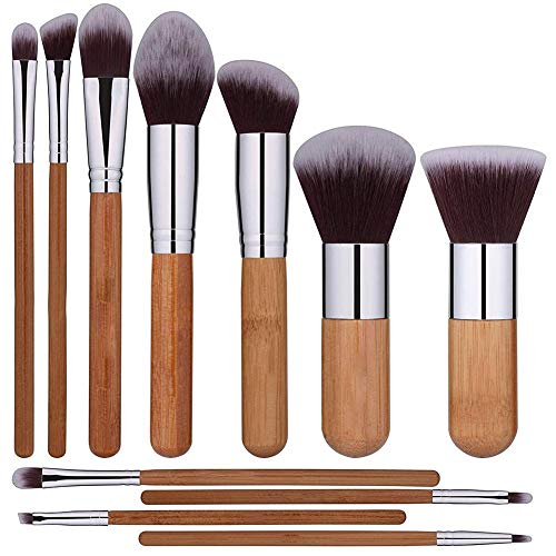 11pcs Pinselsets Make Up Pinsel Set Gesichtspinsel Tragbares Multifunktions Schminkpinsel Für Foundation Cream Augenbrauen Schatten Lippenstift Rouge Puder Concealer