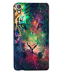 Citydreamz Colorful Lion Face Hard Polycarbonate Designer Back Case Cover For HTC Desire 630/ HTC Desire 630 Dual Sim