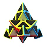 FC MXBB 3X3 Triangle Magic Cube Carbon Fiber Sticker Speed Cube Brain Teasers Education Toy Twist Toy 95mm