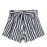 Vectry Damen Hosen Shorts Sommer Hotpants Bermudas Ultra Jeans Leggings Strand Laufgymnastik Yoga der Sporthosen Schlafanzughosen - Streifen Print Elastic Beach (S, N-D)