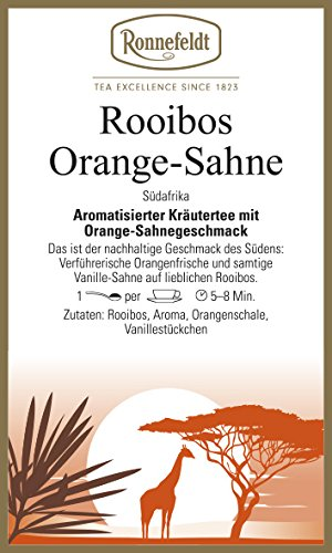 Ronnefeldt - Rooibos Orange Sahne - Kräutertee aus Südafrika - 100g - loser Tee