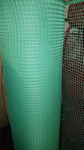 Réseau pour balcons, filet en plastique pour balcon et clôtures.Réseau résistant sur les côtés longs. Hauteur Rouleau 1 m Longueur 10 mètres.Couleur vert.