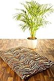 Brandsseller XXL Kissen Tierfellmotiv Sitzkissen Hundekissen Dekokissen 100 x 60 cm (Tiger)