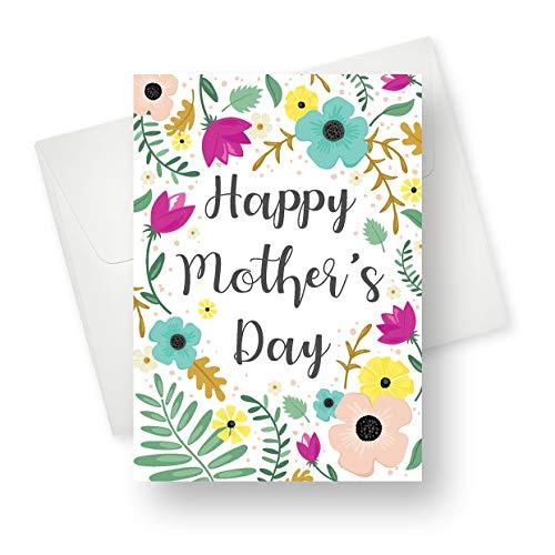 Grußkarte zum Muttertag, Premium-Qualität mit einzigartigen Designs - für Mütter, Großmutter, Tanten und Freundinnen, 14 x 19 cm, 175 Stück (Halloween Verse Für Karten)