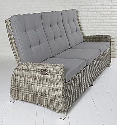 3-Sitzer Gartensofa Rabida champagner Loungesofa Sofa Gartenmöbel Living-Sofa Polyrattan von La Casa di Caesar auf Gartenmöbel von Du und Dein Garten