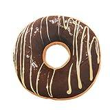 Xinan Kissenbezug Soft Plüsch Kissen gefüllt Seat Pad Sweet Donut Foods Kissen Case Toys (40cm x 40cm x 12cm, A)
