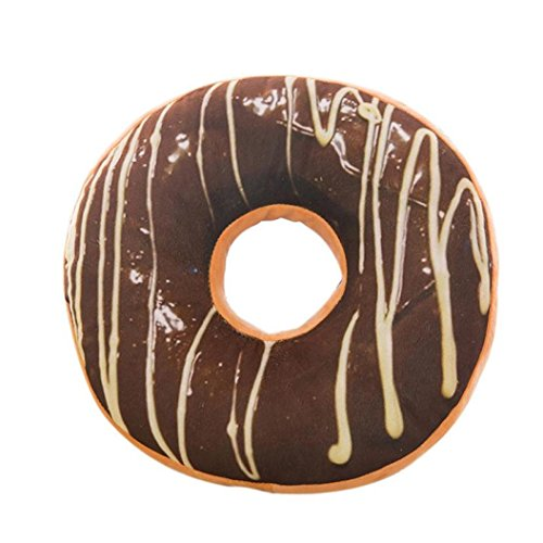 Xinan Kissenbezug Soft Plüsch Kissen gefüllt Seat Pad Sweet Donut Foods Kissen Case Toys (40cm x 40cm x 12cm, A) -