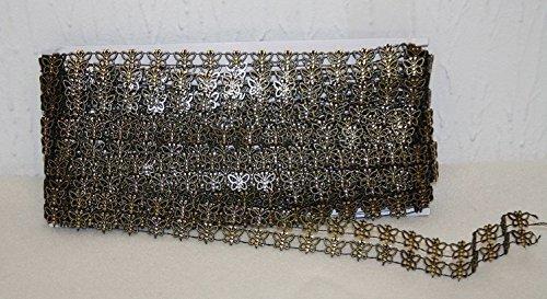 10yds Luxus Kette, Schmetterling L811 gold trim Floral Gold Trim