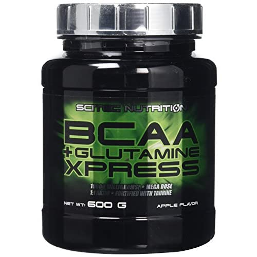 Scitec Nutrition BCAA + Glutamine Xpress, Fortified with Taurine, Sugar Free, 600 g, Apple