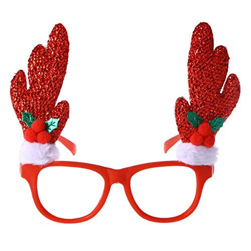 BESTOYARD Weihnachten Brillen Rahmen Kinder Erwachsene Neuheit-Kostüm Brillen Xmas Party Dekoration