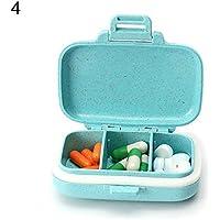 Lsgepavilion tragbare 3-6 Fächer Pillendose Feuchtigkeitsfest Medikamentenaufbewahrung Reise Medikament Organizer preisvergleich bei billige-tabletten.eu