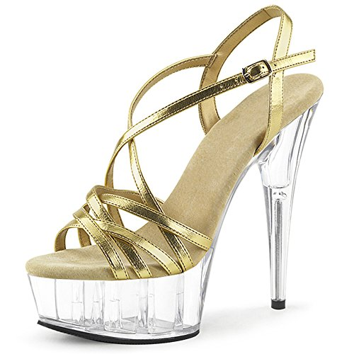 8dbe582d6a ZHIRONG Frauen Single Schuhe Wasserdichte Plattform Strass High Heel  Hochzeit Schuhe Silber Fein Mit Nachtclub.