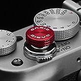 Hochwertiger GARIZ Auslöseknopf bzw. Soft Release Button, für viele Kameras mit Drahtauslöser-Gewinde, wie z.B. Leica M, Fuji X, Nikon DF, etc. in Rot bzw. Special Red (XA-SBA3)