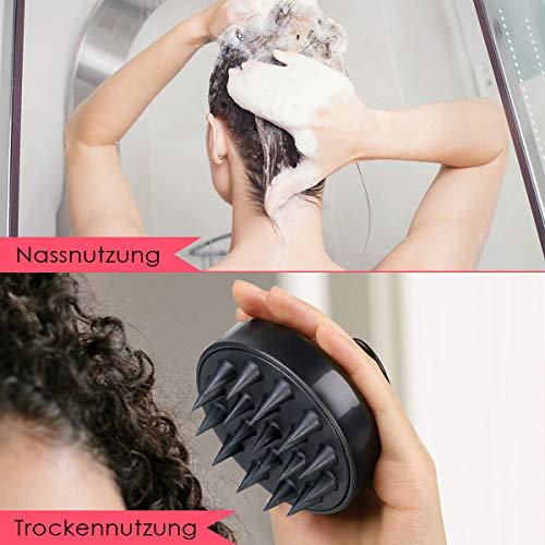 Kopfmassage Bürste, Luckyfine Nass & Trocken Shampoo-Bürste, hilft Haarreinigung und Haarwuchs, Silikon Kamm Kopfhaut Massage, Körper- und Haarmassagegerät geeignet für Männer, Frauen, Kinder usw.