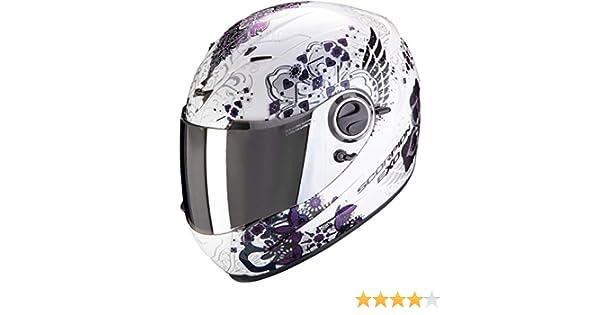 Blanc//Cam/él/éon XS SCORPION Casque moto EXO-490 Divina White-Chameleon