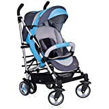 Pushchair - Stroller 'Buggy' - Multi Positions - lots of accessories included - Premium Quality - in 5 colors available - Colour:Blue - 1102