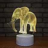 Lanbba Neue Seltsame Nachtlicht Stereoskopische Lichter Kinder Schreibtisch Induktion Tischlampe Elefant