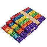 SUPVOX 100 unids Depresores de lengua de madera Palos de madera para palitos de paletas de paletas de paletas de paletas de colores para manualidades de bricolaje Diseños creativos (colorido)