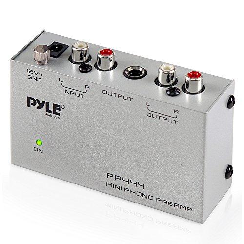 Pyle Vorverstärker für Phono, ultrakompakt, Schwarz