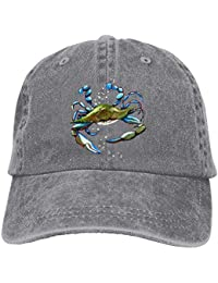 4f55981cac5f0 Hipiyoled Swimming Crab Denim Hat Adjustable Female Cute Baseball Caps  ABCDE01620