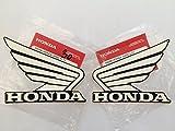 Honda Flügel benzintank benzintank Aufkleber 2 x 100 mm weiß / schwarz links & rechts 100% Original