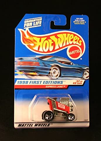 1998 - Mattel / Hot Wheels - Express Lane (Red racing shopping kart) - 1998 First Editions #37 of 40 Cars - 1:64 Scale Die Cast Metal - MOC - Limited Edition - OOP - Collectible