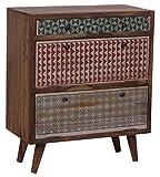 SIT-Möbel Scandi 4362-01 Schuhschrank, 2 Klappen & 1 Schublade, aus Sheesham-Holz, natur, 78 x 40 x 90 cm