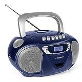 Blaupunkt B 110 BL tragbarer CD Player für Kinder, Hörbuch Funktion und USB, Kassettenrekorder Kinder, tragbares CD-Radio, Aux In, Kopfhöreranschluss, PLL UKW Tuner, Blau