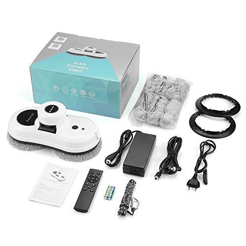 Alfawise S60 Robot Limpiacristales Automático Robot Limpiavidrios Limpiador de Ventanas con Cuerda de Seguridad