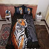 Bettwäsche Tiger Laken Bettbezug dreiteilig vierteilig Tiger UStwin: 173 * 218cm dreiteilig