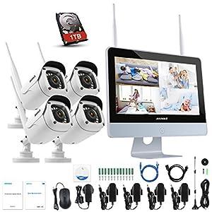 sistemas de vigilancia por internet: ANNKE Kit de Cámaras Seguridad WiFi Vigilancia Inalámbrica Sistema 1080P 4CH HD ...