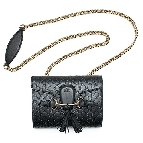Gucci-Emily-Guccissima-Mini-Shoulder-Bag-Black-Leather-Handbag