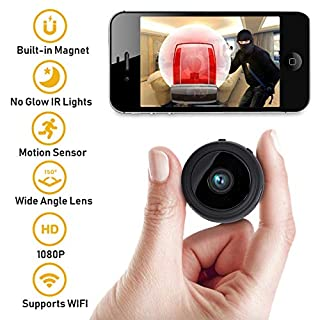 Mini Spy Camera by Athena Security, Spy Camera with Night Vision, WIFI and Motion Detection for iPhone/Andriod/PC/iPad