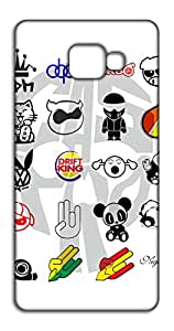 Happoz Symbol Patterns Samsung Galaxy C7 Pro mobile cover Mobile Phone Back Panel Printed Fancy Pouches Accessories Z1162