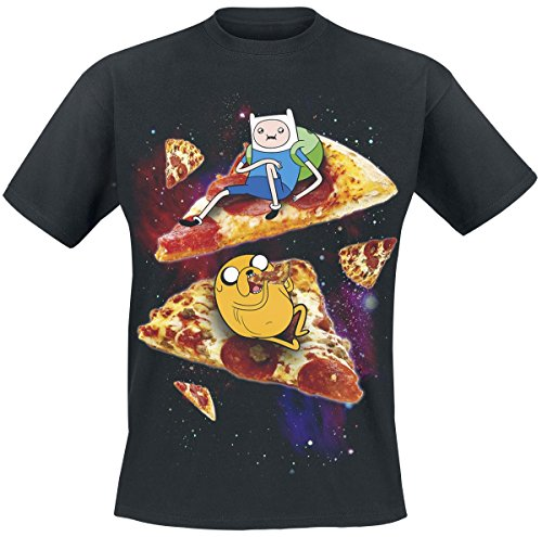 Adventure Time Pizza T-Shirt nero L