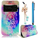Hülle für Samsung Galaxy S5 I9600 GT-I9600 S5 Neo 900, Sunnycase® PC Plastic Hard Back Case with Rhinestones Bling Glitter PU Leather Flip Mobile Phone Case