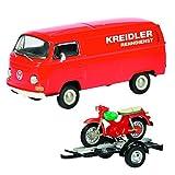 Schuco 450334000 VW T2A Kreidler - Juego de Furgonetas (Escala 1:43)
